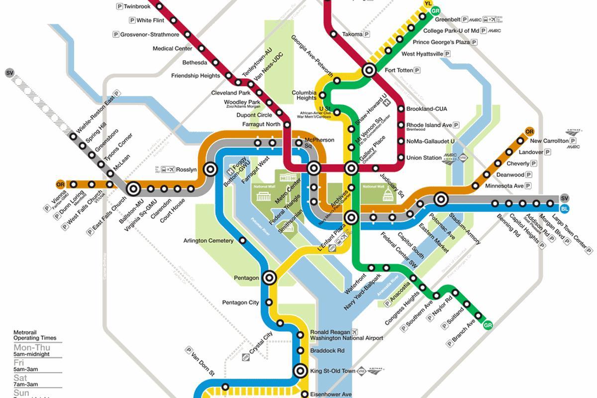 image regarding Printable Washington Dc Metro Map known as Dc metro map - Clean dc metro map (District of Columbia - United states)