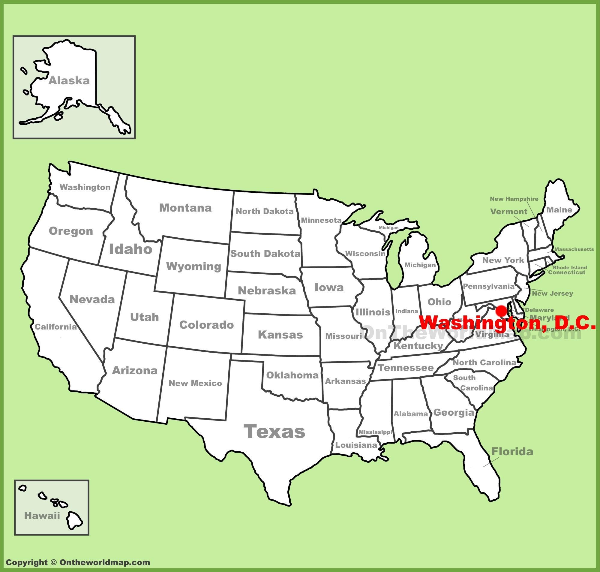 Washington Dc On Map Washington Dc On Map Of America District