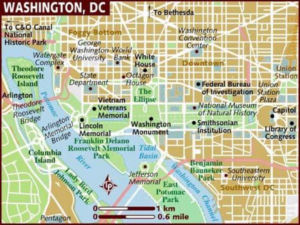 Map of washington dc area - Washington area map (District of ...