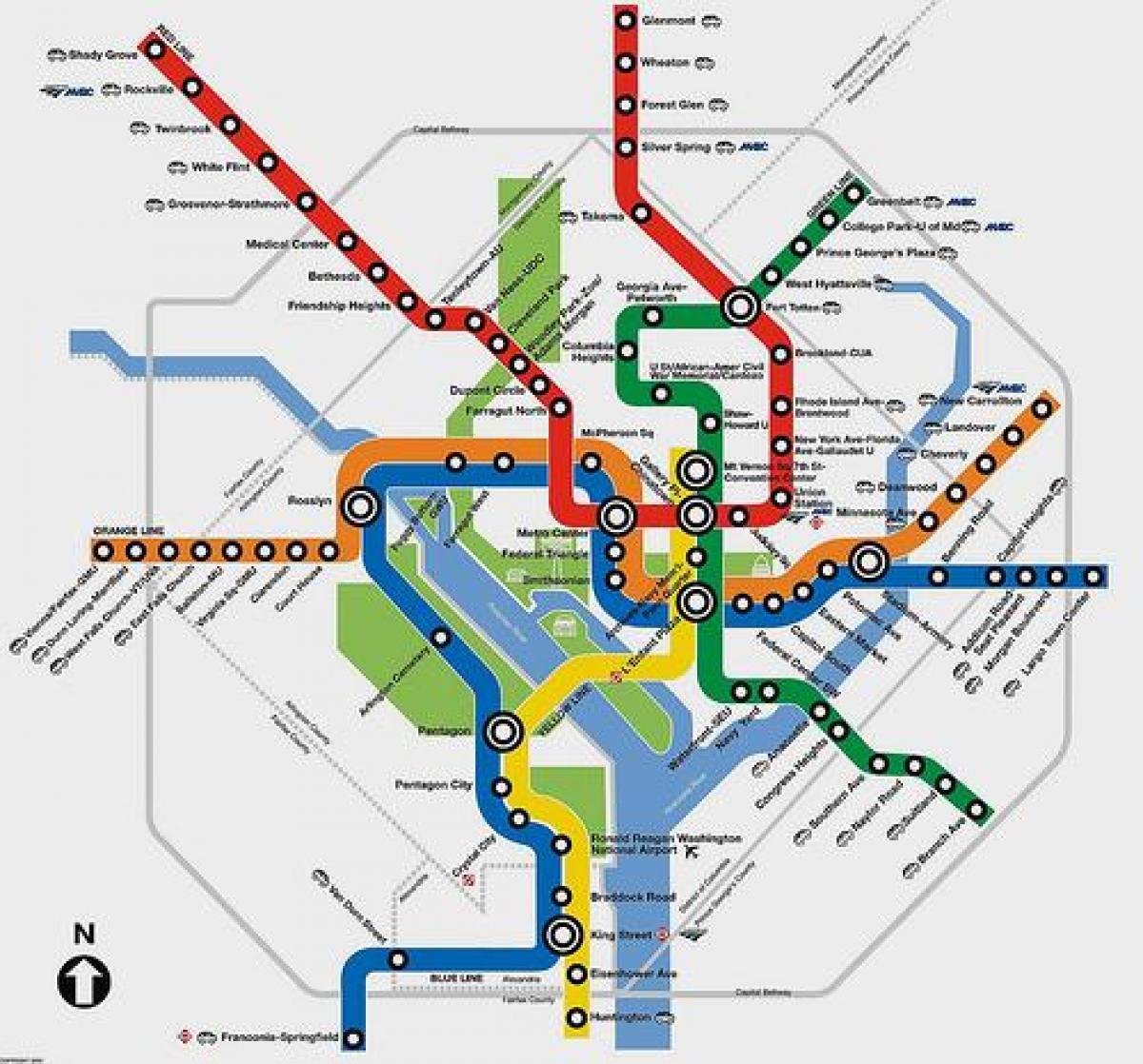 Metro Map Dc Trip Planner Metro map dc trip planner   Dc metro map planner (District of