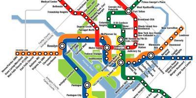 Washington Dcdc Subway Map.Washington Dc Dc Map Maps Washington Dc Dc District Of